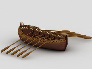 wood longboat