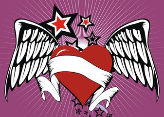winged heart stars