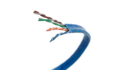 Category 6 Network Cable Curved