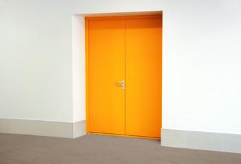 Yellow metallic door