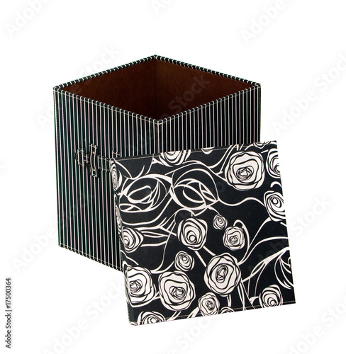 Open Fancy Gift Box Over White Background Stock Photo And