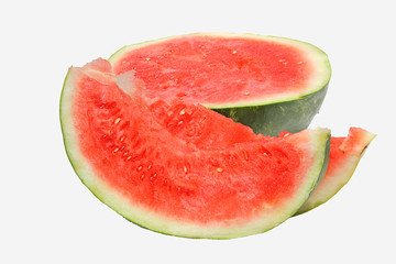 Fresh tasty watermelon isolated on white background