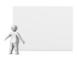 Man looking at board