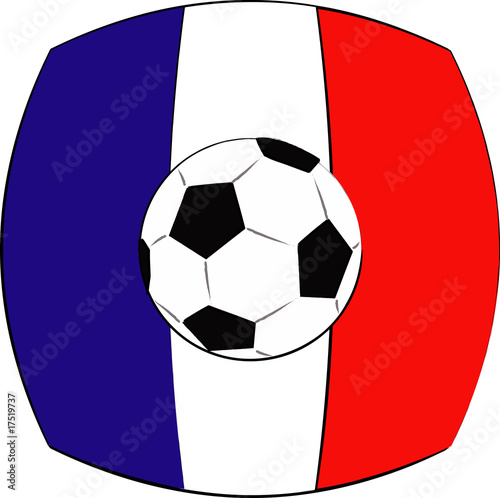 ballon de foot drapeau france photo libre de droits sur la banque d 39 images image. Black Bedroom Furniture Sets. Home Design Ideas
