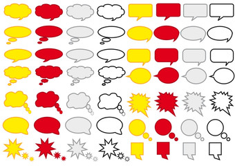 Sprechblasen abstrakt 02