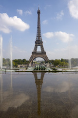 The Eiffel tower from Trocadero in Paris