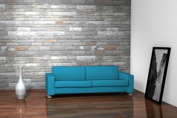 Blue Sofa Interior