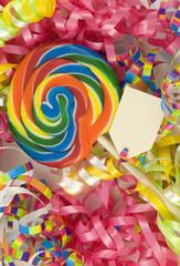 Birthday Lollipop with Blank Tag