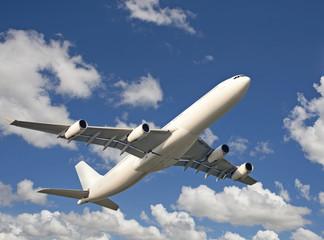 Flugzeug am Himmel, Fernreise