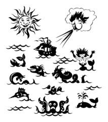 Powerful sea monsters