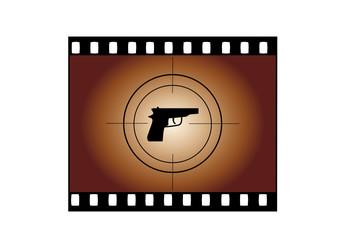 Negativ Pistole abstrakt