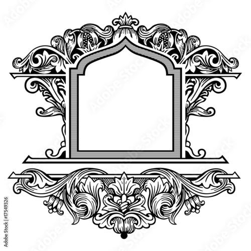 Ornate frame vector\