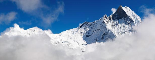Panorama of Machhapuchhre mountain, Nepal, taken from ABC