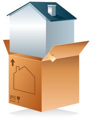 Carton de déménagement - maison