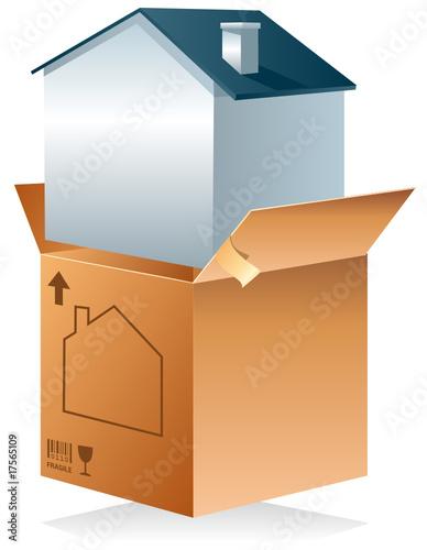 carton de d m nagement maison fichier vectoriel libre de droits sur la banque d 39 images. Black Bedroom Furniture Sets. Home Design Ideas