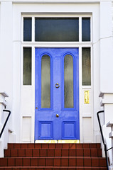 Blue door in London