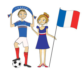 supporters équipe de france football