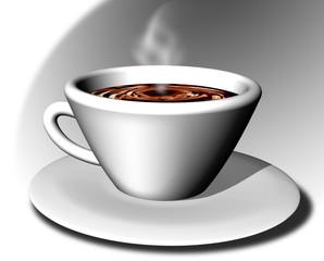 Tazzina Caffé-Cup of Coffee-Tasse de Café-3d-2