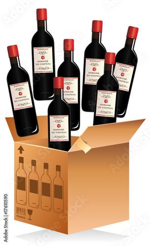 caisse de bouteilles de vin fichier vectoriel libre de droits sur la banque d 39 images fotolia. Black Bedroom Furniture Sets. Home Design Ideas