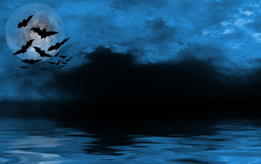 spooky halloween background for design