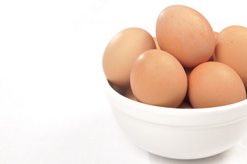 Brown Eggs in a bowl