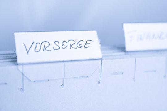 Registerkarte Vorsorge