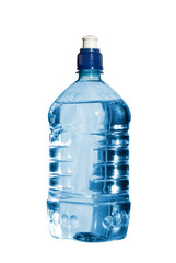 Bottle of water. Isolated on white  with clipping path.