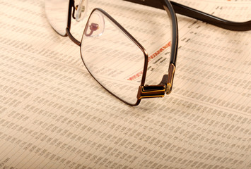 Glasses On Business Report