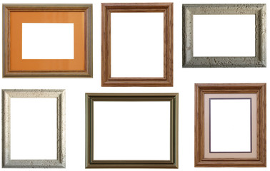 Collage of  various picture frames