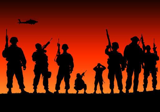 Soldaten im Einsatz