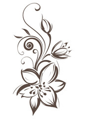 Vector stylized flower