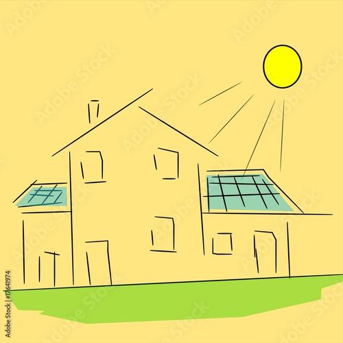 Disegno pannelli solari immagini e vettoriali royalty for Pannelli solari immagini