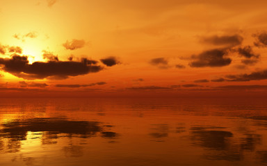 Soft glowing sunset