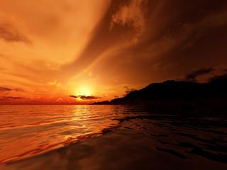 Bright orange bay