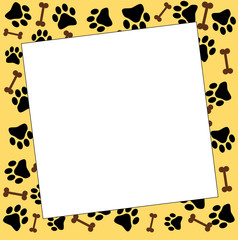 frame with paw prints