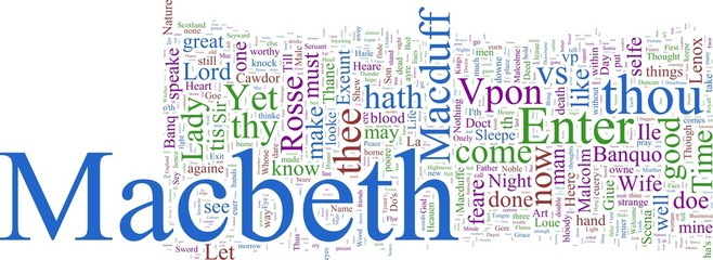 Word cloud - Macbeth