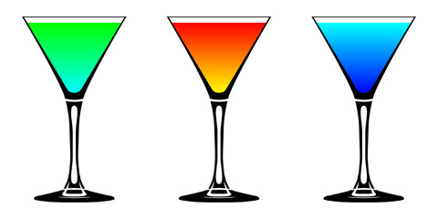 cocktails farbig