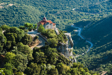 church in Loussios gorge
