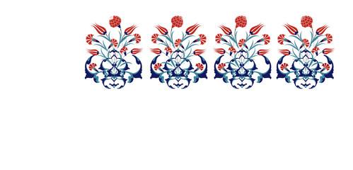 Antique ottoman bouquet design