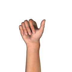 HandUp Count 1 Thumb
