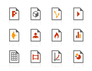 File types compact icons | Sunshine Hotel series