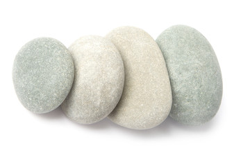 stones for spa therapy isolated in white background