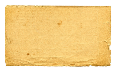 Old paper Isolated on the white
