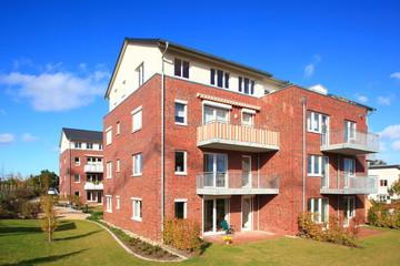 Wohnhaus, Balkone, Mehrfamilienhaus, Deutschland