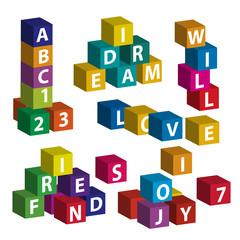 Playing with ABC bricks