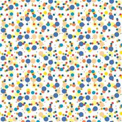 Vector seamless circle balls background