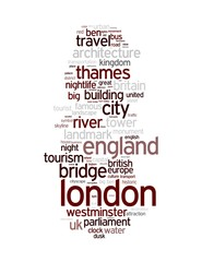 Wall Mural - London - Abstract postcard / art with tags