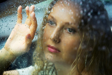 Looking through the rain.