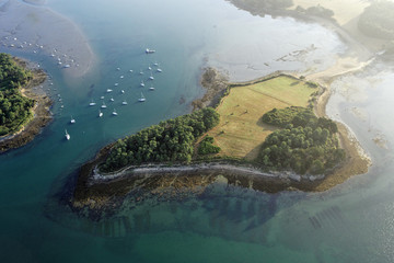 vue aerienne de Sept Îles (seniz), Baden,Baden, Golfe du Morbiha