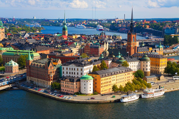 Canvas Prints Northern Europe Panorama of Stockholm, Sweden